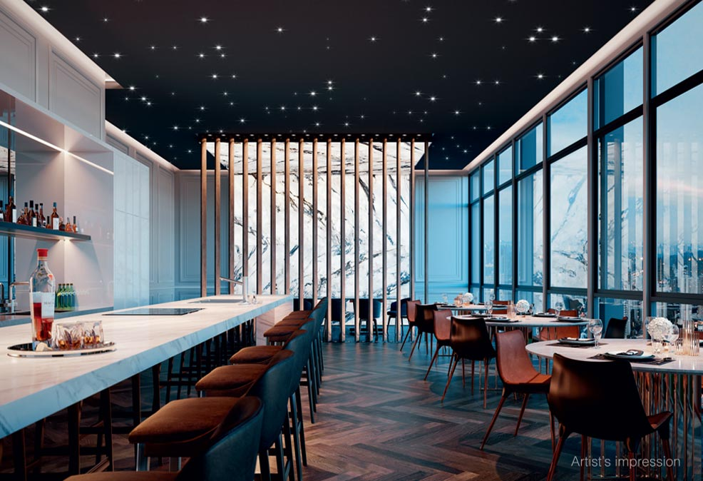 Sky dining Alix Residences