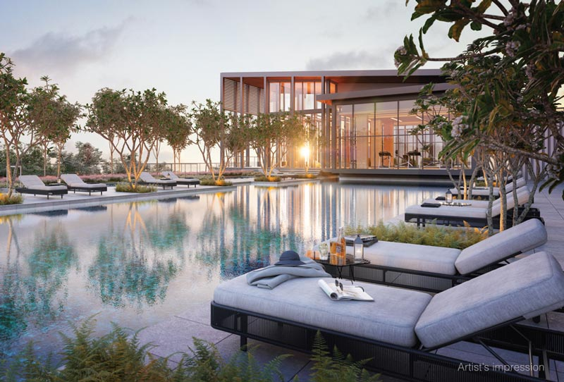 The grand pool Alix Residences